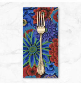 PD's Kaffe Fassett Collection Kaffe Collective 2020, Enchanted in Cobalt, Dinner Napkin