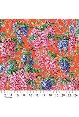 Philip Jacobs Kaffe Collective 2020, Wisteria in Red, Fabric Half-Yards  PWPJ102