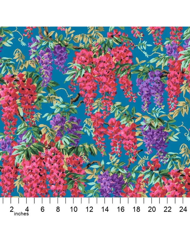 PD's Kaffe Fassett Collection Kaffe Collective 2020, Wisteria in Teal, Dinner Napkin