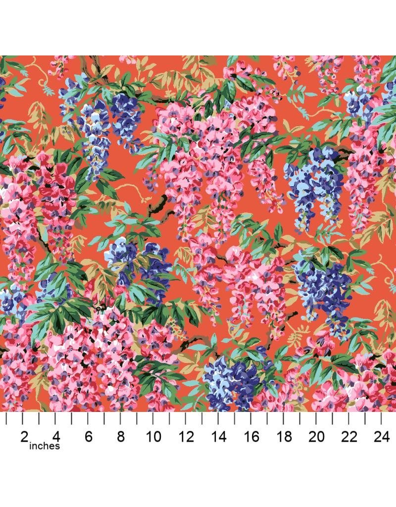 PD's Kaffe Fassett Collection Kaffe Collective 2020, Wisteria in Red, Dinner Napkin