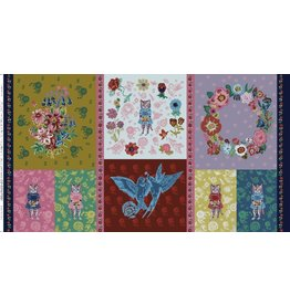 """Nathalie Leté SOLD OUT-Sunday in the Country, Give Me A Kiss Panel, 24"""" x 44"""" Fabric Panel PWNL006"""