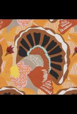 Alexander Henry Fabrics Fall Harvest, Turkey Day in Brown, Fabric Half-Yards 8825 B