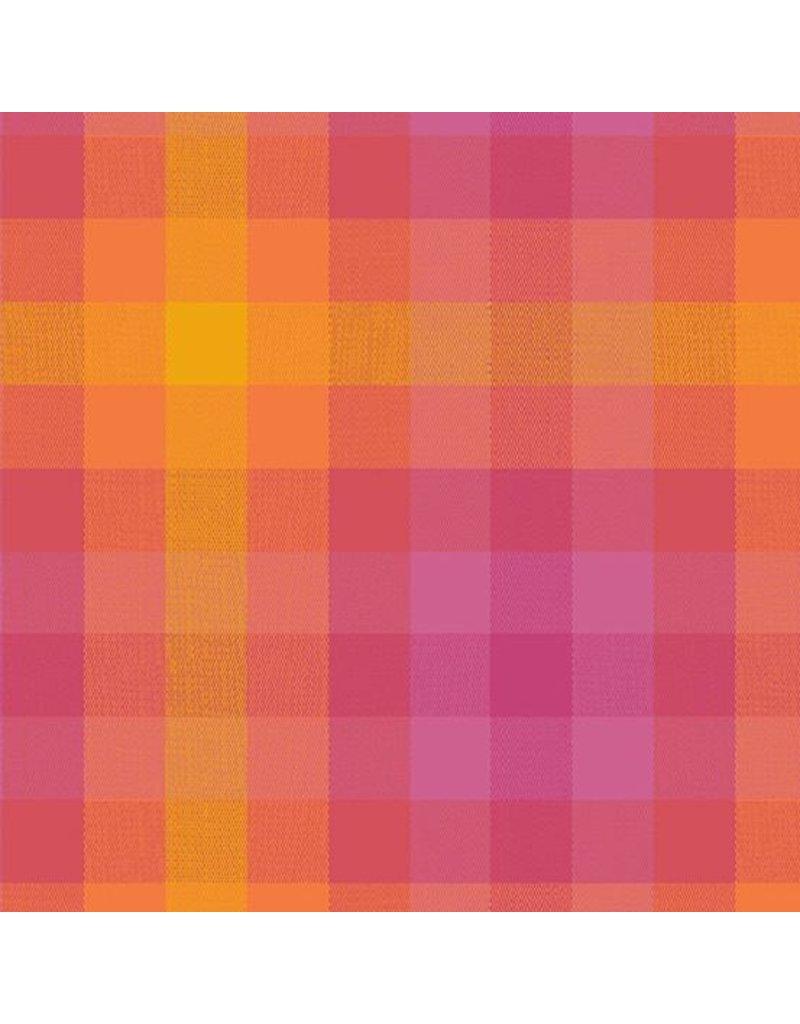 Alison Glass Kaleidoscope Stripes and Plaids, Plaid in Sunrise, Fabric Half-Yards WV-9541