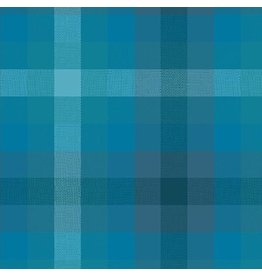 Alison Glass Kaleidoscope Stripes and Plaids, Plaid in Denim, Fabric Half-Yards WV-9541