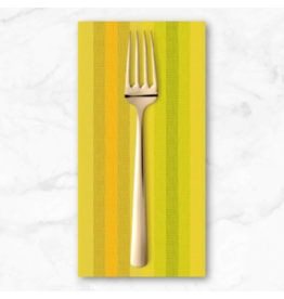 PD's Alison Glass Collection Kaleidoscope Stripes and Plaids, Stripe in Sunshine, Dinner Napkin