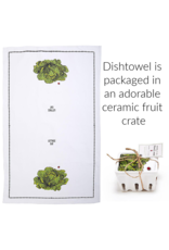 """BACK IN STOCK LATE OCTOBER-Farm to Table, Kitchen Towel in a Fruit Crate """"Lettuce Eat"""""""