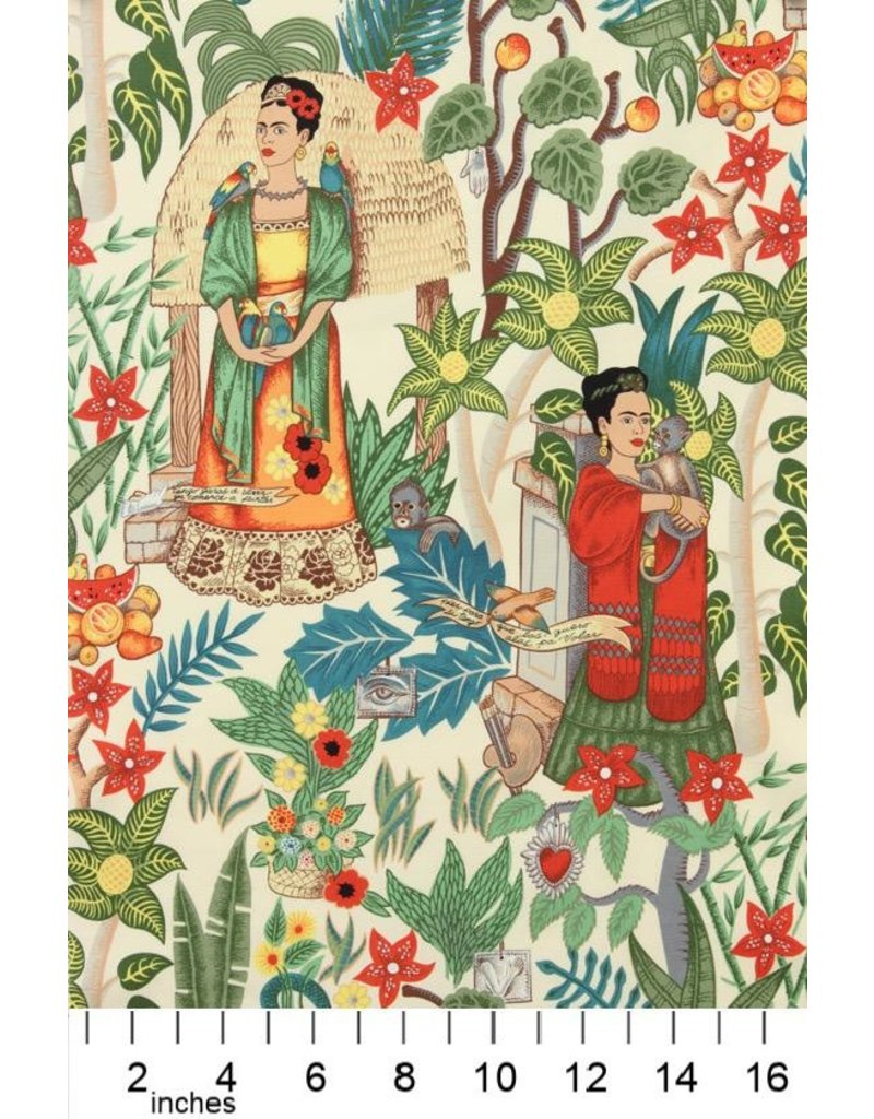 PD's Alexander Henry Collection Folklorico, Fridas Garden in Tea, Dinner Napkin
