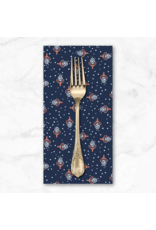 PD's Cotton + Steel Collection Along the Fields, Hyacinth in Scandinavian Blue, Dinner Napkin