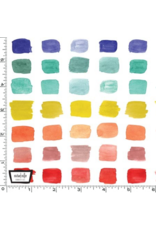 The Paper Curator Ink Unleashed, Beautiful Palette in Multi, Fabric Half-Yards DC9321