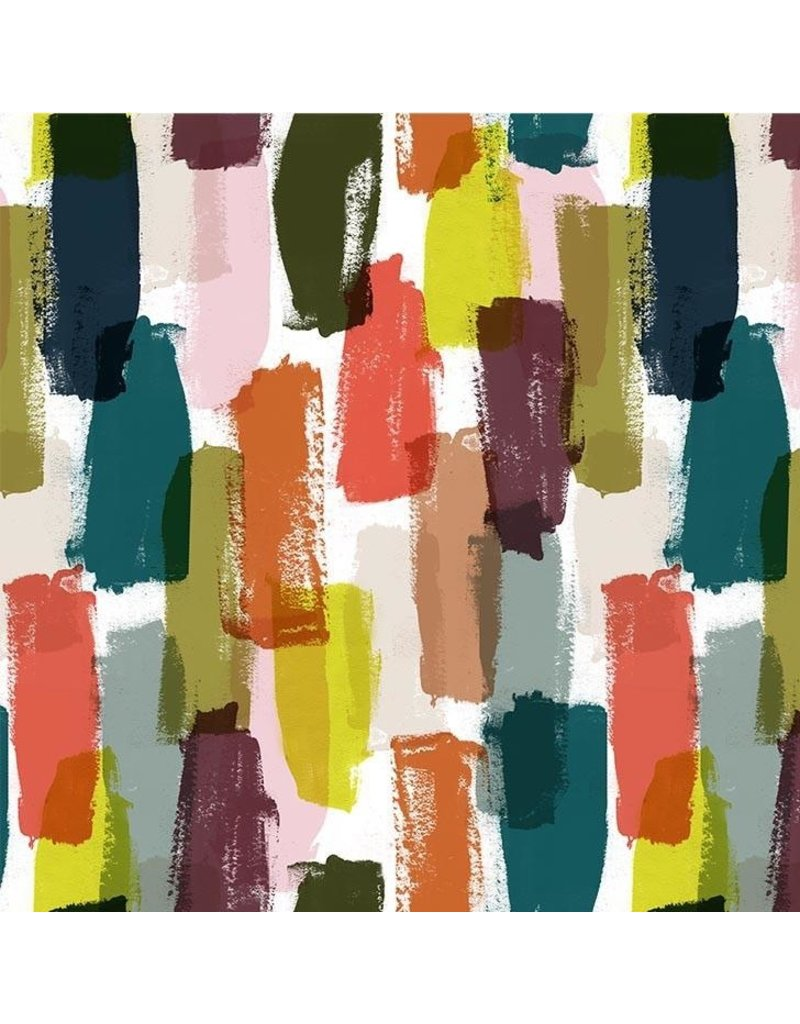 The Paper Curator Ink Unleashed, Simple Brush in Multi, Fabric Half-Yards DC9318