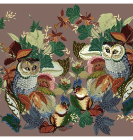 Alexander Henry Fabrics Fall Harvest, Harvest Owl in Mushroom, Fabric Half-Yards 8821 AR