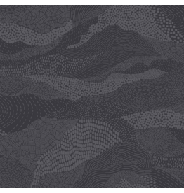 "Figo Elements, Earth in Dark Gray, Fabric Half-Yards 92007-97 (ONE 13"" CUT REMAINING)"