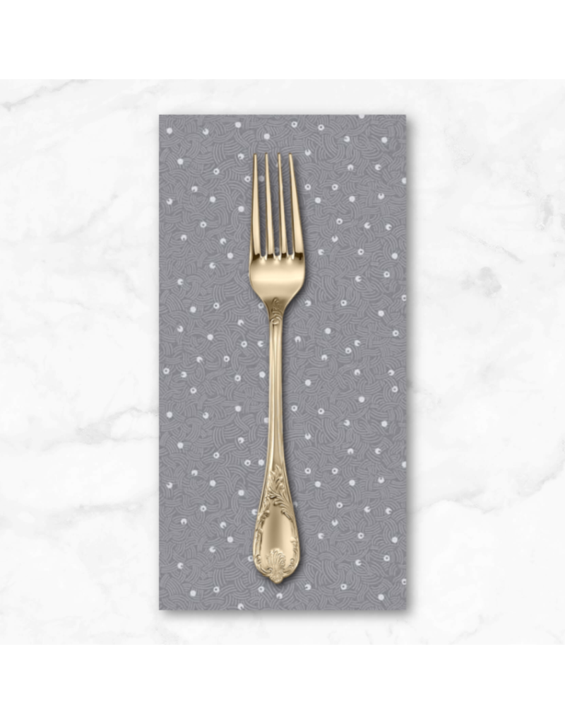 PD's Figo Collection Elements, Air in Light Gray, Dinner Napkin