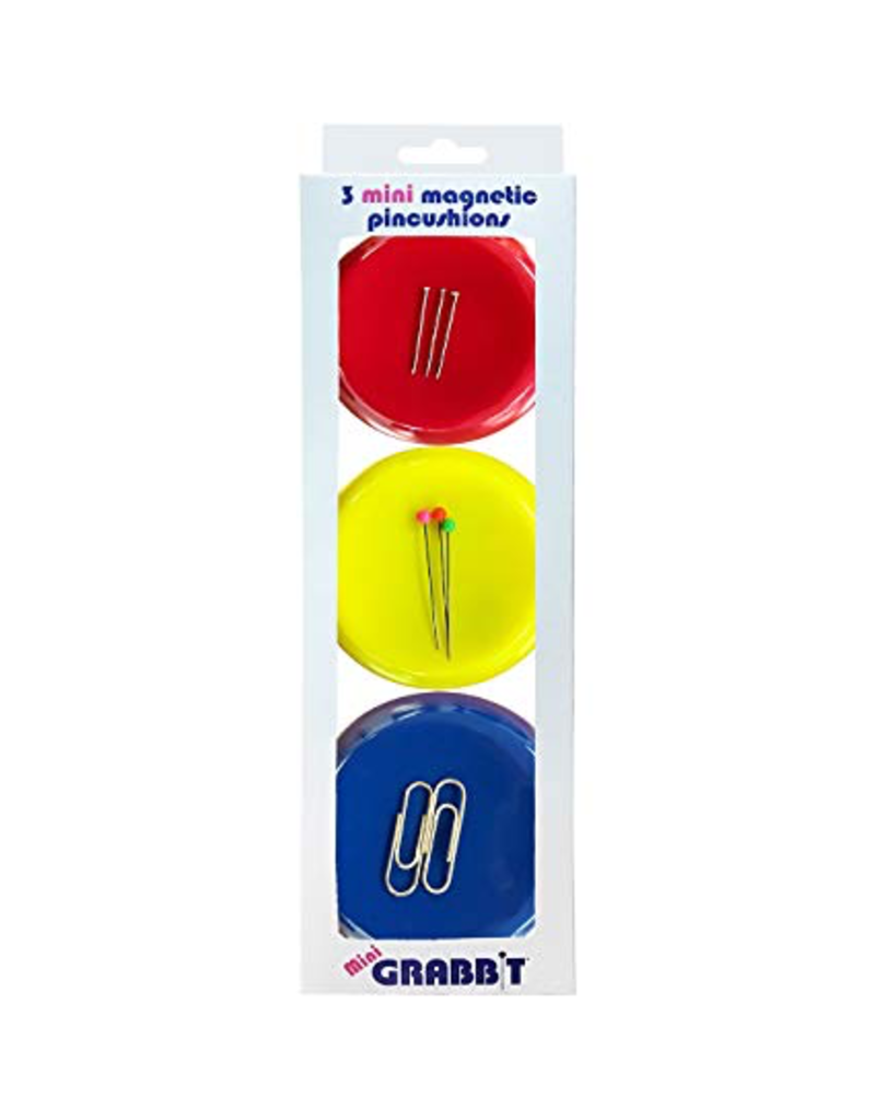 Grabbit® Mini Magnetic Pincushions - Set of 3
