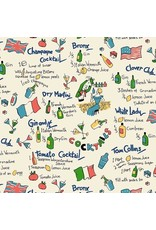 Kitschy Cocktails, Dry Martini, Set of 6 Cocktail Napkins