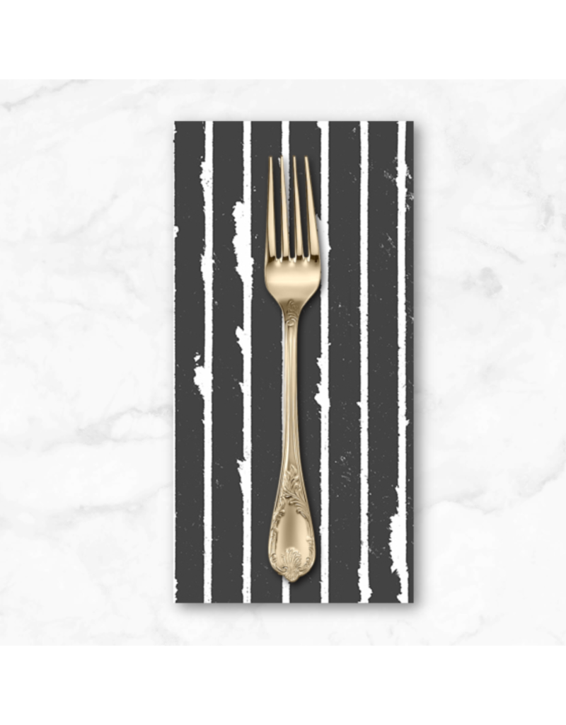 PD's Giucy Giuce Collection Prism, Striped in Shale, Dinner Napkin