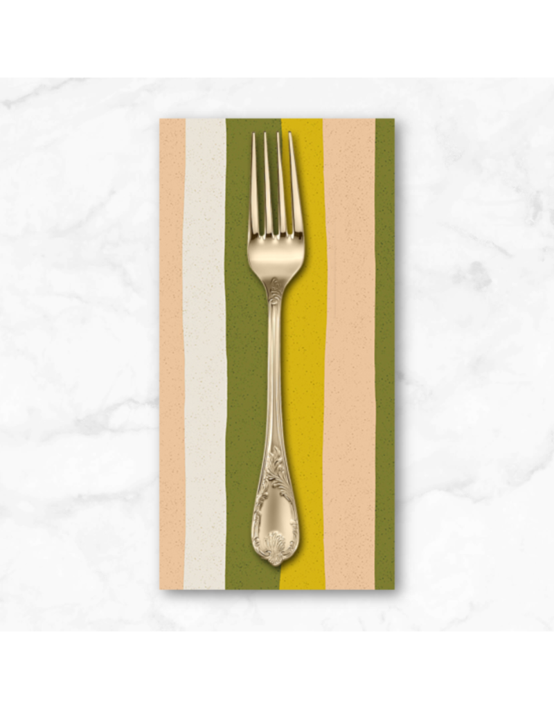 PD's Sarah Golden Collection Perennial, Stripes in Citrus, Dinner Napkin