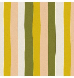 Sarah Golden Perennial, Stripes in Citrus, Fabric Half-Yards A-9570-CE