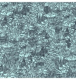Carolyn Friedlander Cotton Lawn, Friedlander Lawn in Aqua, Fabric Half-Yards
