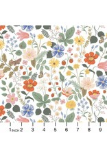 Rifle Paper Co. Strawberry Fields, Floral in Ivory, Fabric Half-Yards RP400-BL3
