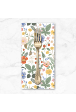PD's Rifle Paper Co Collection Strawberry Fields, Floral in Ivory, Dinner Napkin