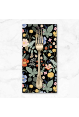 PD's Rifle Paper Co Collection Strawberry Fields, Floral in Black, Dinner Napkin