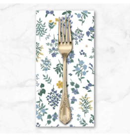 PD's Rifle Paper Co Collection Strawberry Fields, Hawthorne in Periwinkle, Dinner Napkin