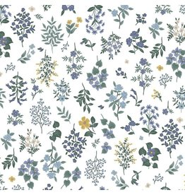 Rifle Paper Co. Strawberry Fields, Hawthorne in Periwinkle, Fabric Half-Yards RP401-PE3