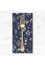 PD's Rifle Paper Co Collection Strawberry Fields, Hawthorne in Navy, Dinner Napkin