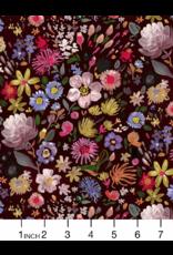 August Wren Minky, Autumn Floral, Fabric Half-Yards WSTELLA-PAW1571