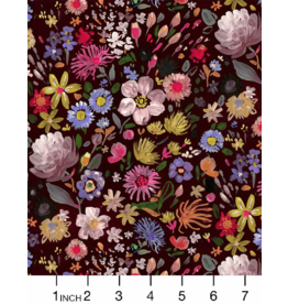 August Wren Minky, Autumn Floral, Fabric Half-Yards WSTELLA-PAW1571