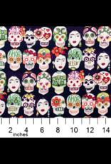 Alexander Henry Fabrics Folklorico, Gotas de Amor in Eggplant, Fabric Half-Yards 7925A