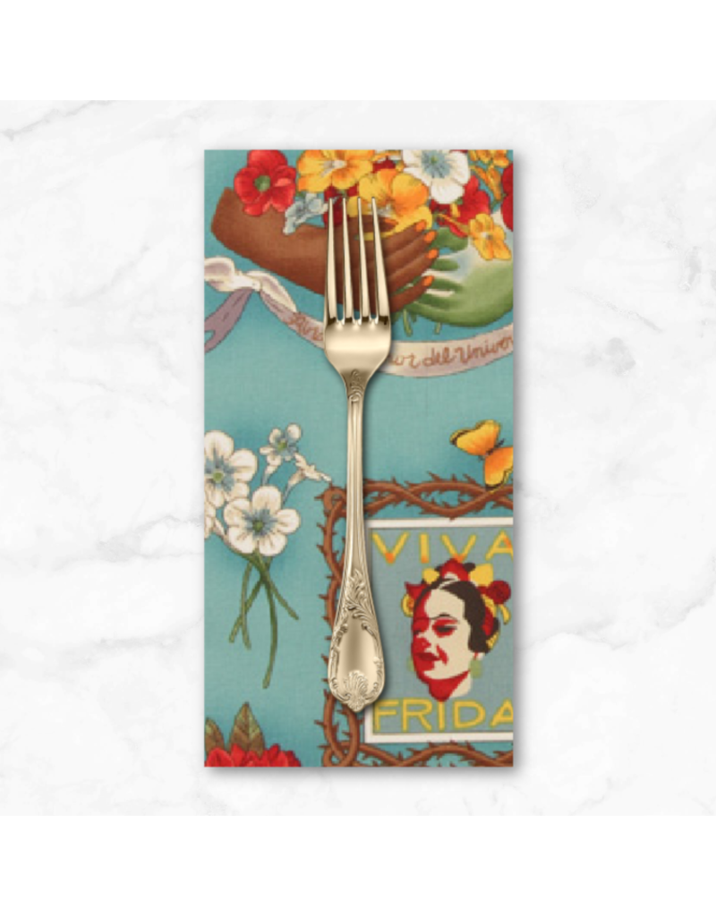 PD's Alexander Henry Collection Folklorico, Viva Frida in Blue, Dinner Napkin