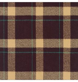 Robert Kaufman Yarn Dyed Cotton Flannel, Mammoth Flannel in Brown, Fabric Half-Yards SRKF-17598-16