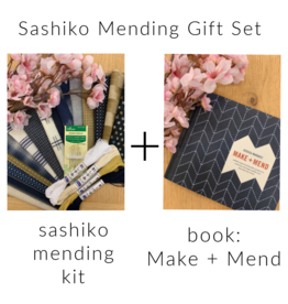 Picking Daisies Sashiko Make+Mend Gift Set