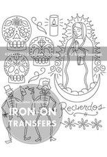 Picking Daisies Embroidery Kit, Tea Towel Gift Set, Dia de los Muertos with Rainbow Floss