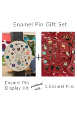 Picking Daisies Enamel Pin and Display Kit Gift Set
