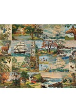 PD's Moda Collection Flea Market Moxie, Paint by Numbers in Multi, Dinner Napkin