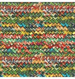 Moda Flea Market Moxie, Gum Wrappers in Multi, Fabric Half-Yards 7363 11D