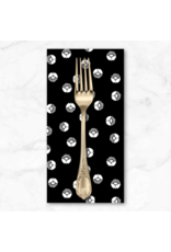 PD's Cotton + Steel Collection Full Moon, Along the Fields, Circle Flower in Space Black, Dinner Napkin