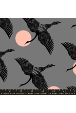 Sarah Watts Ruby Star Society, Florida, Egrets in Slate Gray, Fabric Half-Yards RS2023 13