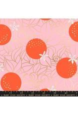 Sarah Watts Ruby Star Society, Florida, Orange Blossoms in Posy with Metallic, Fabric Half-Yards RS2025 12M