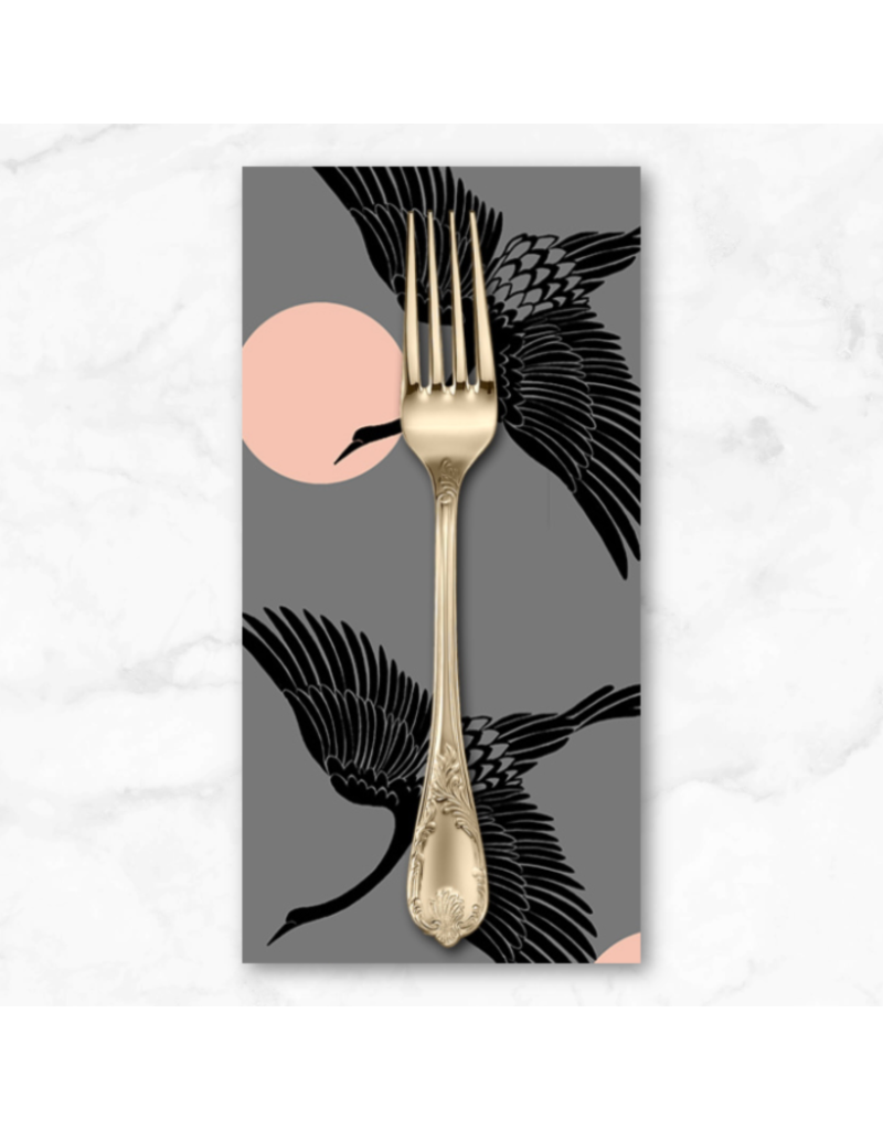 PD's Ruby Star Society Collection Ruby Star Society, Florida, Egrets in Slate Gray, Dinner Napkin
