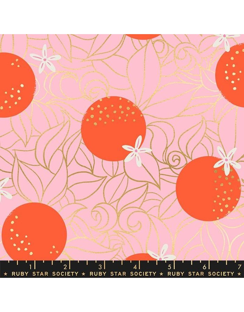 PD's Ruby Star Society Collection Ruby Star Society, Florida, Orange Blossoms in Posy with Metallic, Dinner Napkin