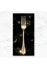 PD's Ruby Star Society Collection Ruby Star Society, Florida, Cosmos in Black with Metallic, Dinner Napkin