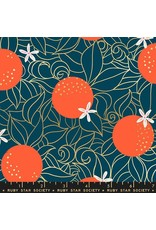 PD's Ruby Star Society Collection Ruby Star Society, Florida, Orange Blossoms in Peacock with Metallic, Dinner Napkin