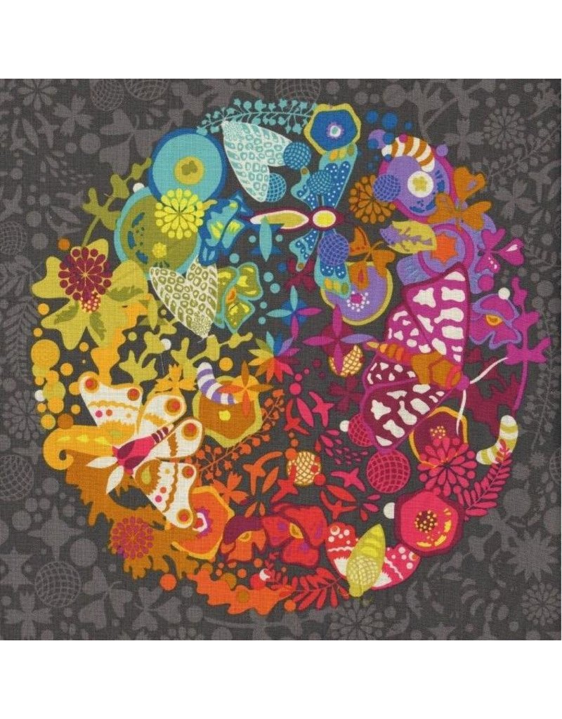 "Alison Glass Art Theory, Grand Circle in Night, 24"" x 44"" Fabric Panel A-9697-C"
