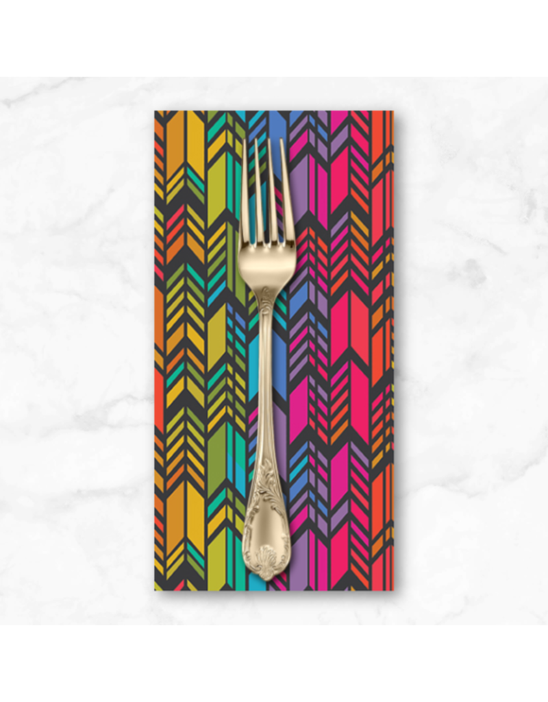 PD's Alison Glass Collection Art Theory, Rainbow Feather in Night, Dinner Napkin