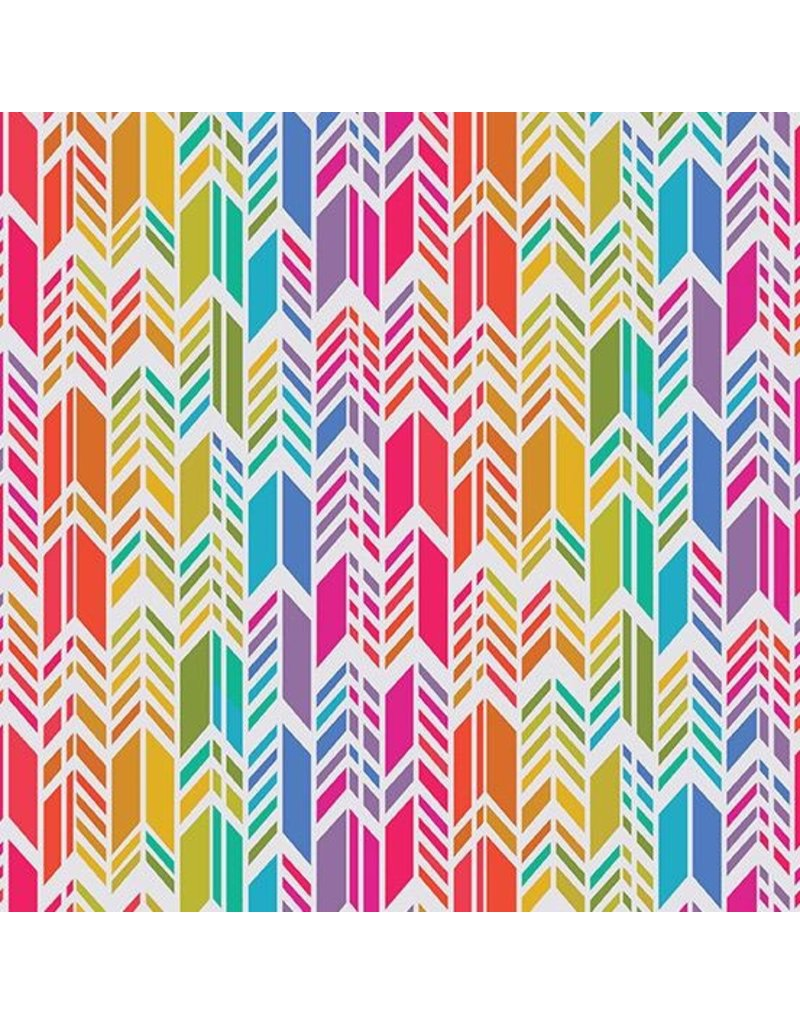 Alison Glass Art Theory, Rainbow Feather in Day, Fabric Half-Yards A-9701-L