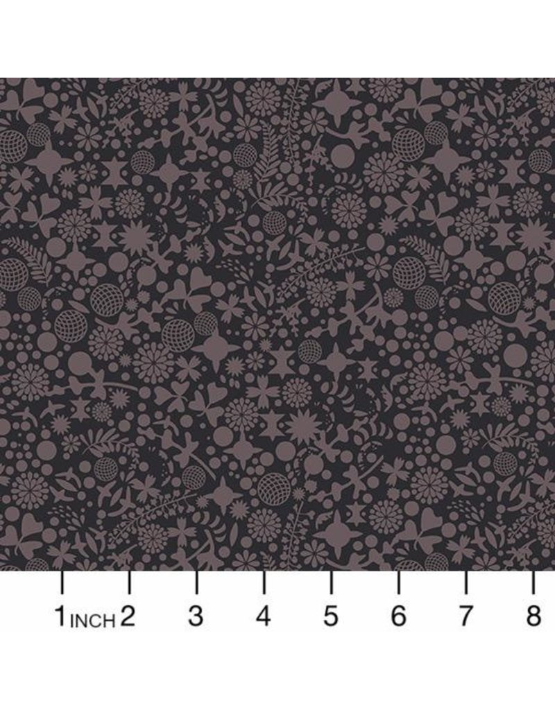 Alison Glass Art Theory, Endpaper in Night, Fabric Half-Yards A-9706C